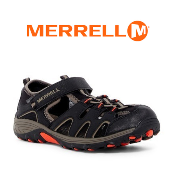 6cbd21704 Merrell Hydro Sandal Kids Unisex Boys Black Guns